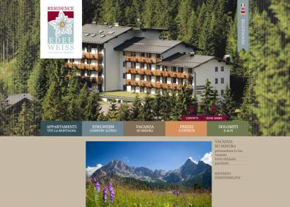 GBF Costruzione sito web Residence Edelweiss